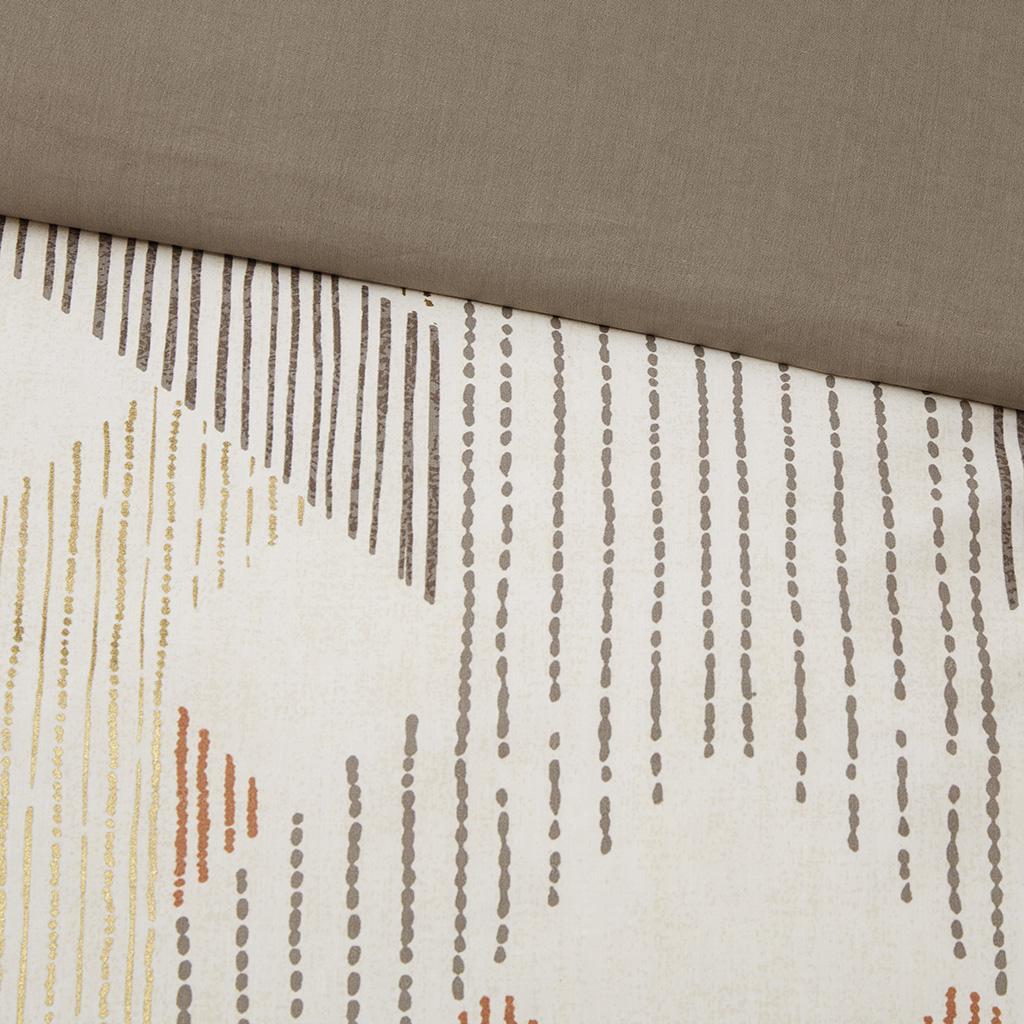 Ayana 3 Piece Duvet Cover Mini Set Brown Interiors