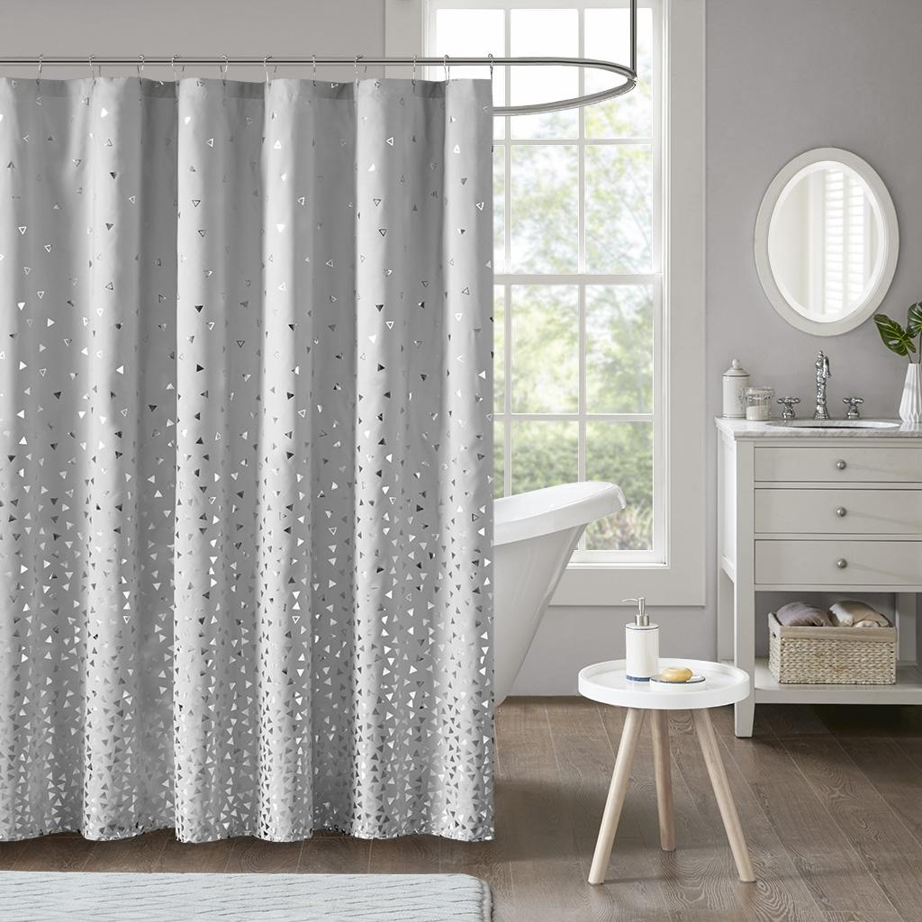 Zoey Metallic Printed Shower Curtain