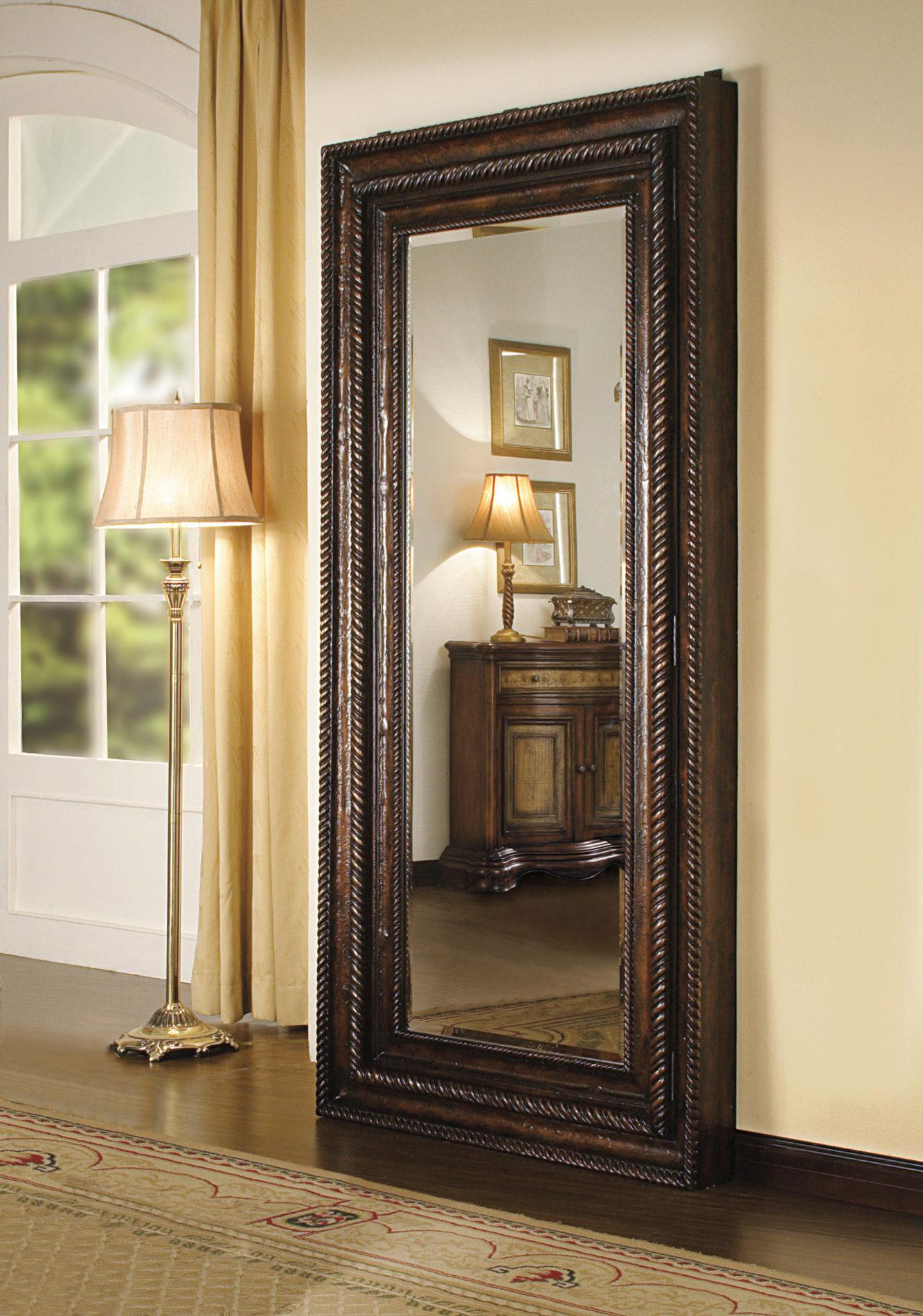 Charmant Floor Mirror W/Hidden Jewelry Storage