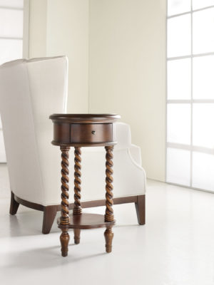 14'' Inlay Top Round Accent Table