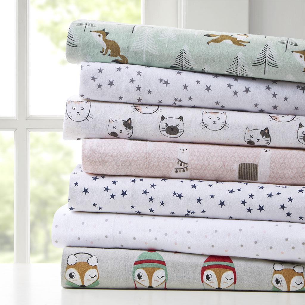 Cozy Soft Cotton Novelty Print Flannel Sheet Set