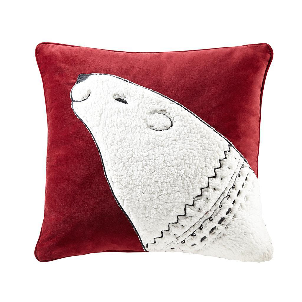 Blissful Holiday Bear Pillow