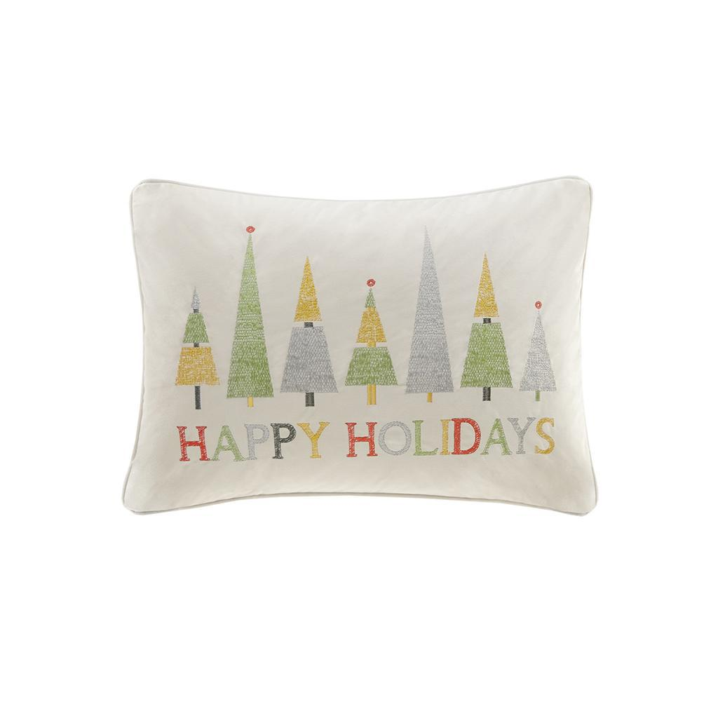 Happy Holidays Oblong Pillow